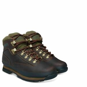 Timberland-95100-Classic-Euro-Mens-Leather-Hikers-Hiking-Boots-Brown-Smooth-Size