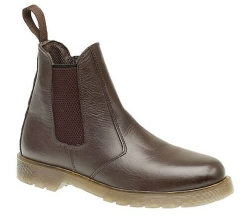 MENS SIZE 8 BROWN AIR CUSHION SOLE CASUAL WEAR CHELSEA DEALER BOOTS