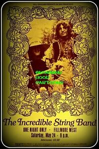 INCREDIBLE-STRING-BAND-FILMORE-Flexible-Fridge-Magnet-Approx-5-034-x-4-034