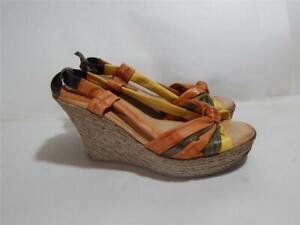 Damenschuhe Kleidung & Accessoires Riva Keilabsatz Slipper Sandalen Größe Uk 9 39 Eu In Spanien Hergestellt 9.5cm