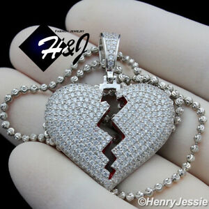 Sterling Silver Heart Initial Charm Letter G Hand Stamped With 18 Silver Bead Chain