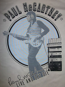 PAUL-McCARTNEY-Studio-Time-Live-amp-Let-Die-OFFICIAL-T-SHIRT-Beatles-HALF-PRICE