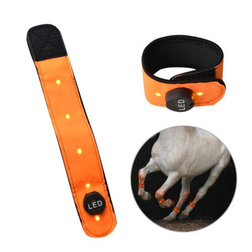2pcs Equestrian Horse Leg Wraps LED Light Protector Wear Shoe Safety Guard