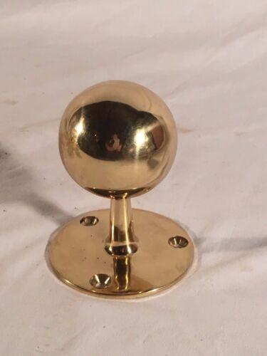 Polished Brass Art-Deco Pole Rod Stanchion Finial Top Globe End Piece