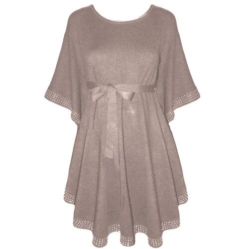 Neu Damen Fledermaus Strick Pullover Pulli Poncho Shirt Kimono  Tunika Top