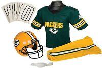 Green Bay Packers Youth Jersey Medium Uniform Set Nfl Kids Boys Football Helmet on sale
