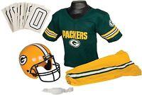 Green Bay Packers Youth Jersey Medium Uniform Set Nfl Kids Boys Football Helmet on sale