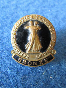 Vintage-National-Association-Teachers-of-Dancing-Medal-Badge-Bronze-1950-039-s