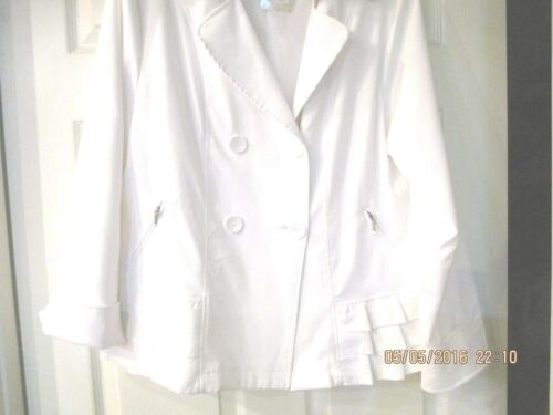 Italy nwt à glissière boutons blanche volants Collection XL fermetures veste Vecceli gnwFvqd6Og