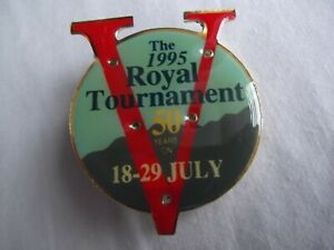 1995 ROYAL TOURNAMENT BADGE. In VGC and 50 years 18-29 July Armed forces