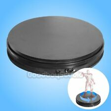 [US] Black 35cm 50KG Loading 3D 360° Heavy Duty Rotating Display Stand Turntable