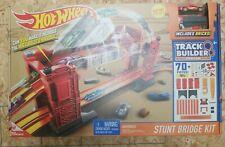 Hot Wheels Track Builder Stunt Bridge Kit Car Racing Play Set Motorized 70 pcs