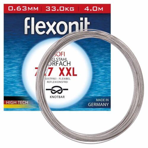 Flexonit Stahlvorfach Angeln Meterware 7x7 XXL 4m 0,81mm 54,0kg 2,44EUR//m