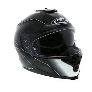 HJC IS-17 Full-Face Motorcycle Helmet Black, X-Large