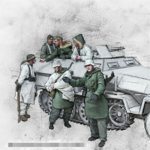 1-35-WWII-Tank-Soldiers-Resin-Model-Kits-Unpainted-GK-Unassembled