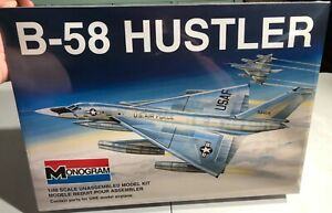 Monogram-B-58-Hustler-1-48-SAC-Delta-Wing-Bomber-FS-NEW-Model-Kit-Sullys