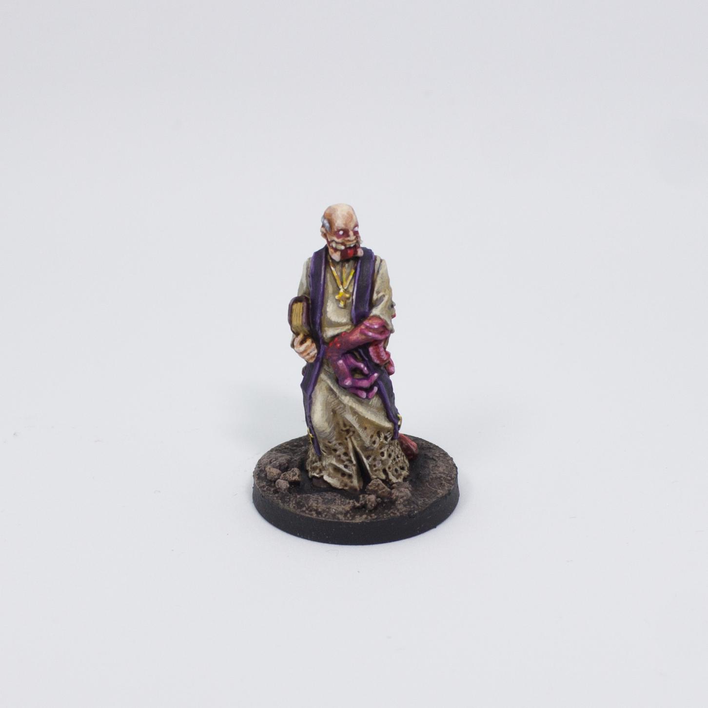 Painted Miniature Priest Aberration Fantasy Pathfinder Pathfinder