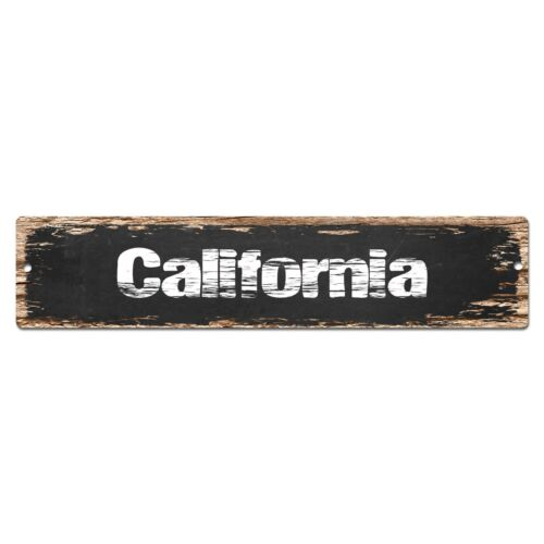 SP0053 California Street Plate Sign Bar Store Shop Cafe Home Kitchen Chic Decor