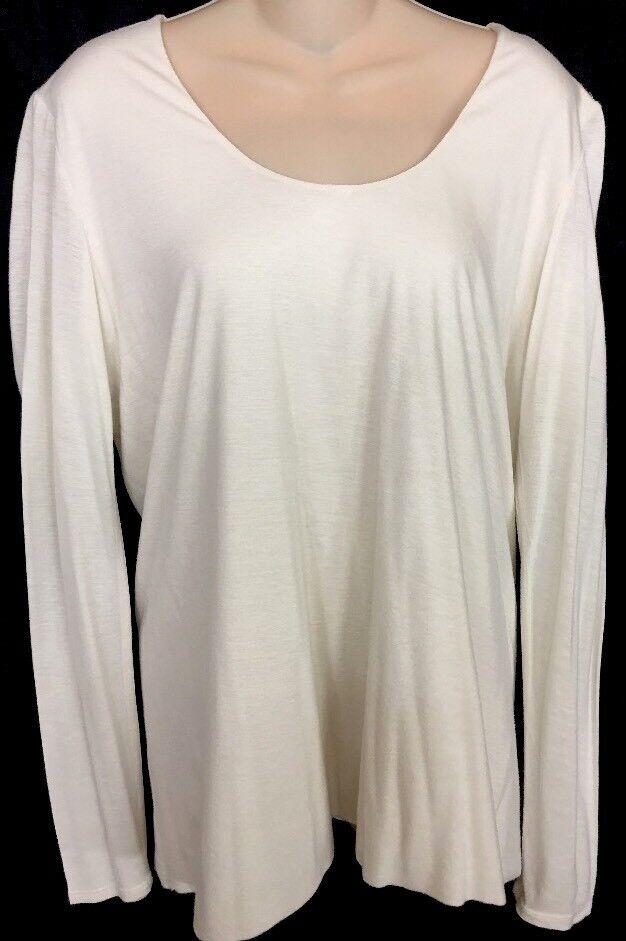 The Row Top Cotton Jersey Knit Longsleeve Größe Large