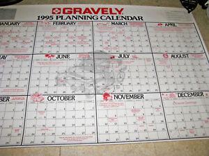 1995 Gravely Calendar For Tractor Dealers Planning Calendar