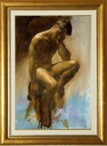 """Hand-painted Oil painting art Portrait male nude on canvas 24""""x36"""""""