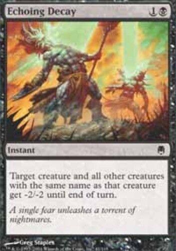 4 Echoing Decay ~ Near Mint Darksteel 4x x4 Playset MTG Magic Black Card Ultimat