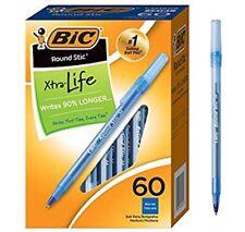 BIC Round Stic Xtra Life Ballpoint Pen Medium Point 1.0mm Black 60-count