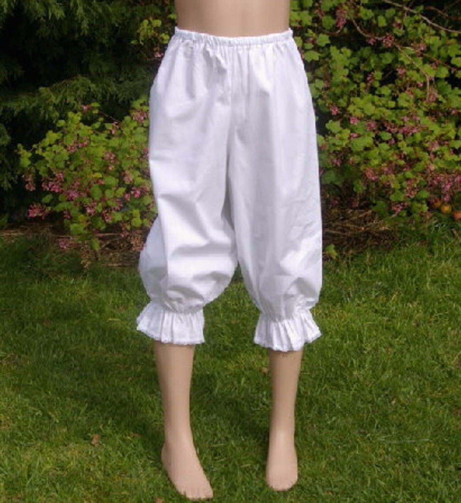 Girls Victorian / Edwardian long BLOOMERS costume fancy dress age 8yrs