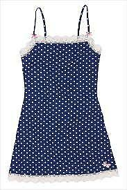 Chemise nightie lounge wear dotty grey or blue and white design BNWT size XL /& L