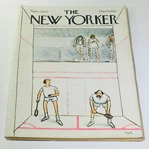 The-New-Yorker-November-7-1977-Full-Magazine-Theme-Cover-Charles-Saxon