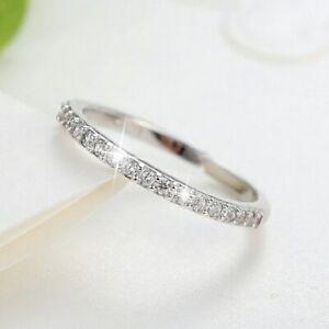 Schmaler-Damen-Ring-Echt-Sterling-Silber-925-MIT-Zirkonia-Einstellbar
