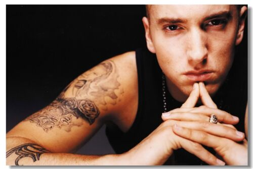Poster Eminem Rapper Star Pop Room Club Art Wall Cloth Print 509