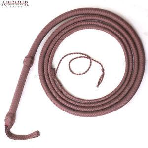 BULL-WHIP-06-08-10-12-14-16-Feet-12-Plaits-Para-cord-Nylon-CUSTOM-BULLWHIP