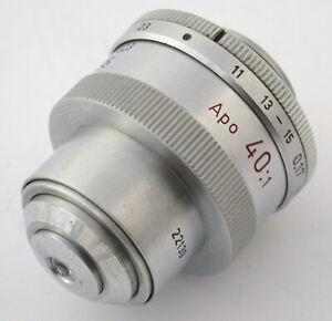 LEICA-Leitz-microscope-lens-Mikroskop-Objektiv-APO-40x-40-1-170-011-0-23-A-0-95