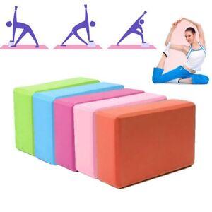 Yoga-Block-Pilates-EVA-Brick-Foam-Stretch-Fitness-Exercise-Sport-Gym-Tool-New