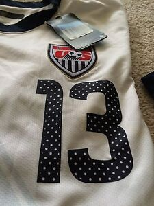Authentic Nike USA Home Soccer Jersey with Auth.  13 Mens Size Med ... 2b8998cd7