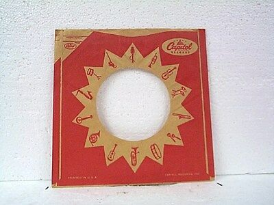 1-capitol Record Company 45's Sleeves Lot #82-a High Quality And Low Overhead Music