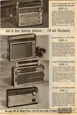 1965 AD Radio Ham Soundesign Magnifique Shima General Electric Deluxe Transistor
