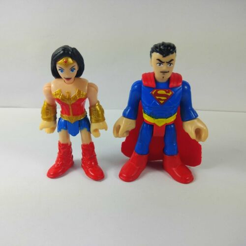 Fisher Price Imaginext DC Super Friends Wonder Woman and Superman Action Figure