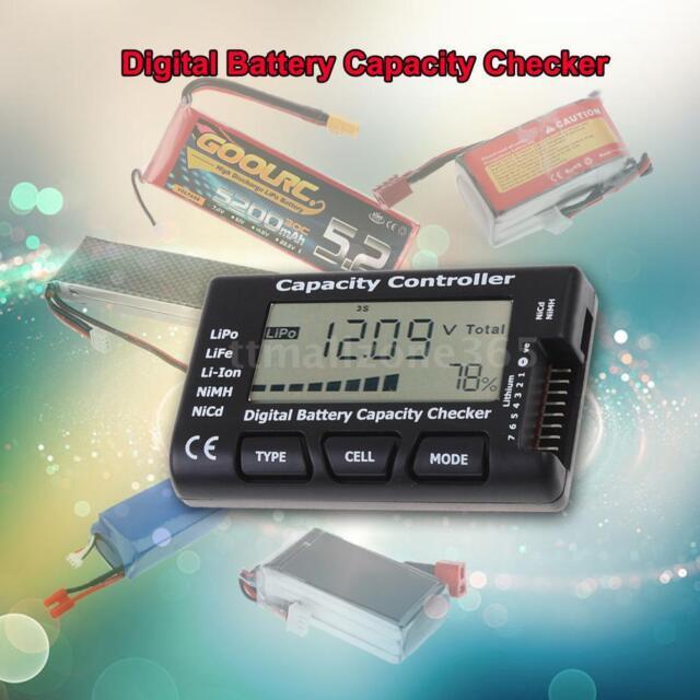 CellMeter-7 Digital Battery Capacity Tester LiPo LiFe Li-ion NiMH Nicd RC US