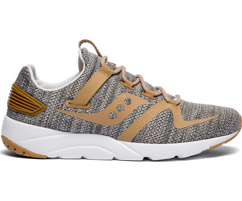 Saucony Original Men's Grid 9000 MOD Sneaker shoes S70411-1 Tan   Tan