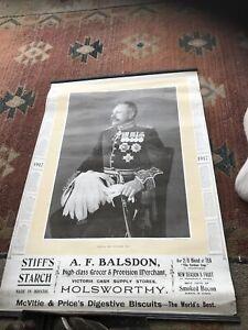 WW1 Advert Calender victoria Cash Supply Stores Holsworthy- Sir Douglas Haig