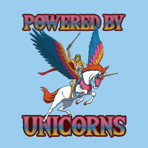 Powered By Unicorns She Ra He Man Kid/'s T-Shirt
