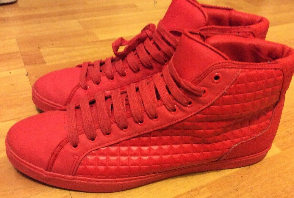 ZARA MAN RED HIGH-TOP SNEAKERS SIZE 11