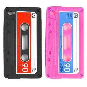 Schutz-Huelle-fuer-iPhone-5-5S-Retro-Schale-Kassette-90s-Handy-Tasche-Cover-Case