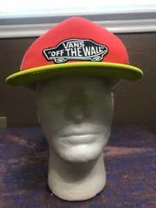 30c1b585be4 Vans Off The Wall Men s White Mesh SnapBack Baseball Cap Hat