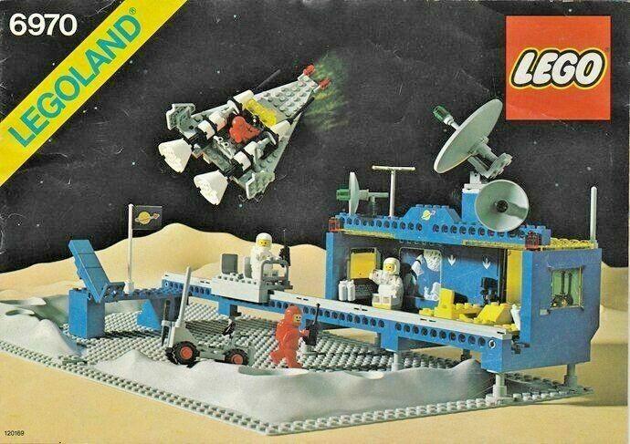 Paquete de espacio Lego Vintage, 6970, 6804, 6809, 6927, Original las instrucciones impresas