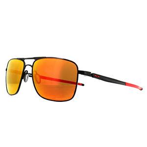 ea1d73f083 Image is loading Oakley-Sunglasses-Gauge-6-OO6038-04-Polished-Black-