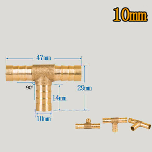 6mm 8 10 12 14 16 19mm Brass Hose Fitting BSP Adapter Pipe Connector Fuel Gas