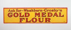 Vintage Linen Backed Paper Washburn Crosby's Golf Medal Flour Banner Sign